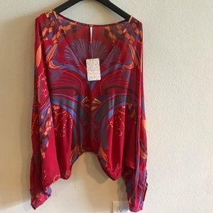Free people beautiful red blouse!